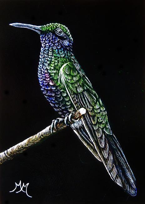 Art: Hummingbird  (SOLD) by Artist Monique Morin Matson