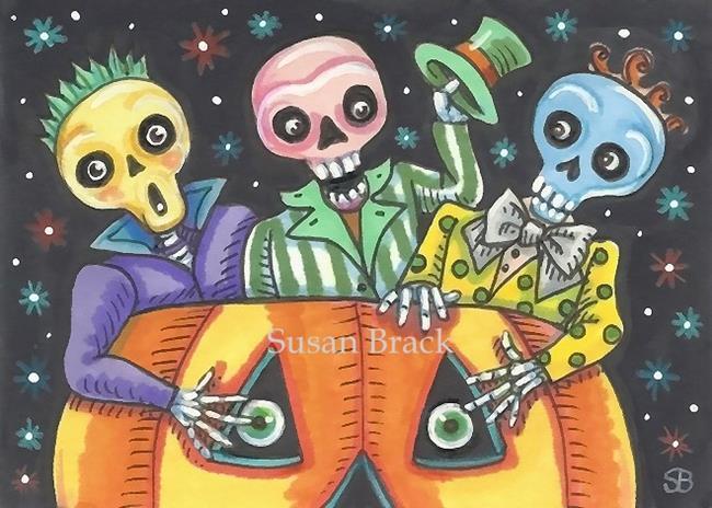 Art: SPOOKY BOO BROTHERS by Artist Susan Brack