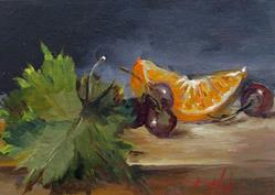 Art: Still Life with Grapes No.2 by Artist Delilah Smith