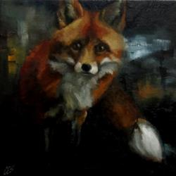 Art: Before Disappearing Into the Night by Artist Christine E. S. Code ~CES~