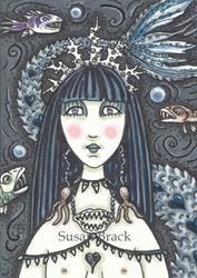 Art: BLACK SEA SIREN by Artist Susan Brack