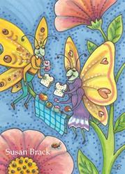 Art: BUTTERFLY PICNIC by Artist Susan Brack