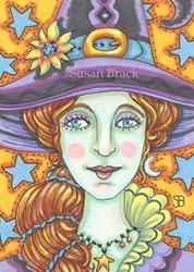 Art: EYES OF STAR BLUE by Artist Susan Brack