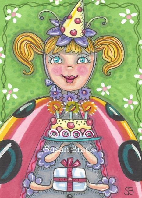 Art: HAPPY BIRTHDAY TO ME by Artist Susan Brack