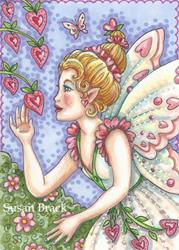Art: HEARTS IN BLOOM by Artist Susan Brack
