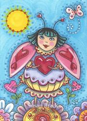 Art: LADYBIRD LOOKING FOR LOVE by Artist Susan Brack