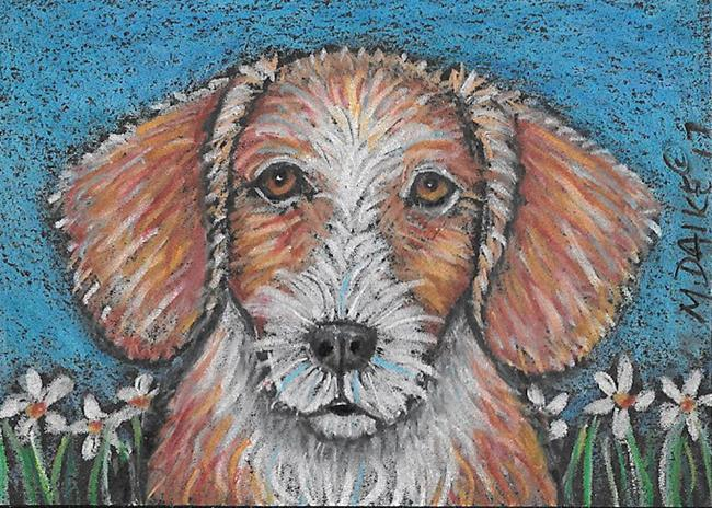Art: Daisy Dog by Artist Melinda Dalke