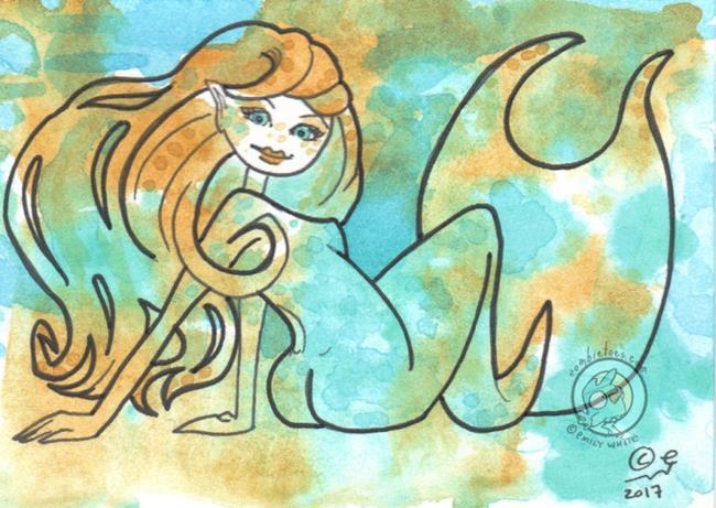Art: Painted Girl by Artist Emily J White