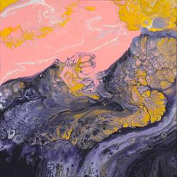 Art: Sun Blushed Shores by Artist Louise Mead