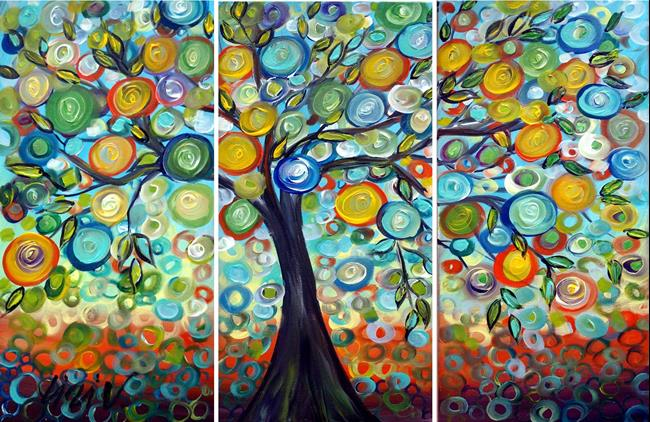 Art: Harvest Time Olive Tree by Artist LUIZA VIZOLI