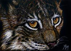 Art: Baby Lynx  (SOLD) by Artist Monique Morin Matson