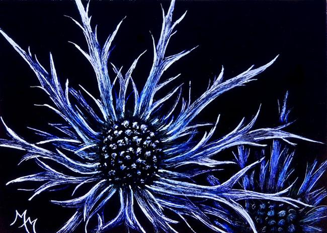 Art: Sea Holly by Artist Monique Morin Matson