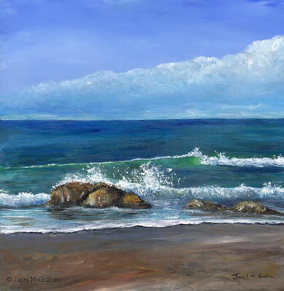 Art: Kirra Beach 3 by Artist Janet M Graham