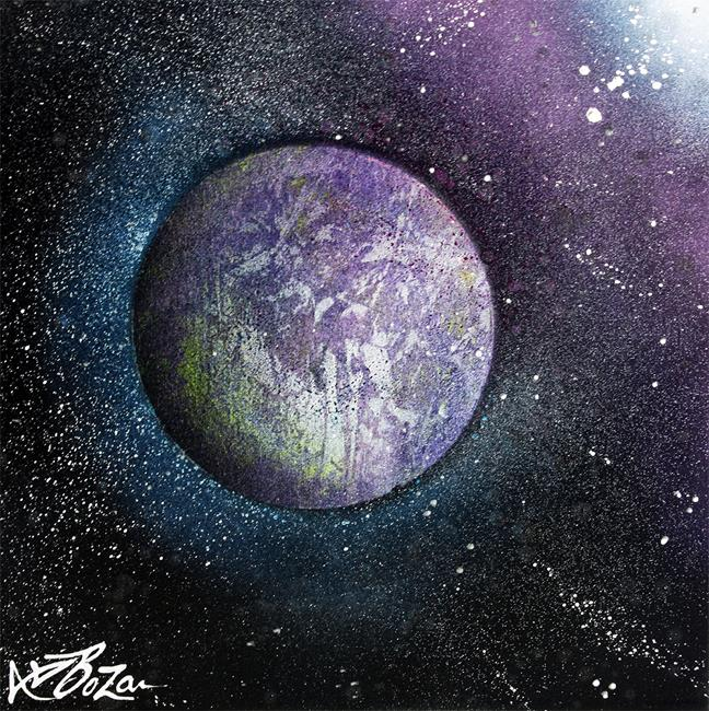 Art: Purple Planet by Artist Laura Barbosa