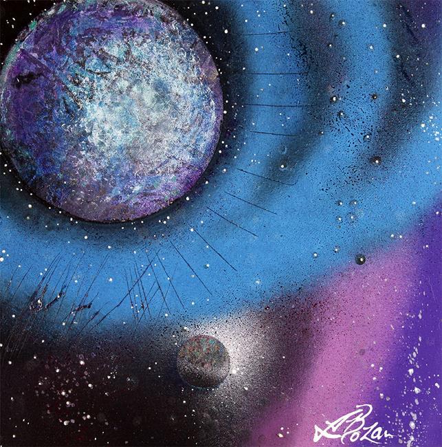 Art: Cosmic Moon by Artist Laura Barbosa