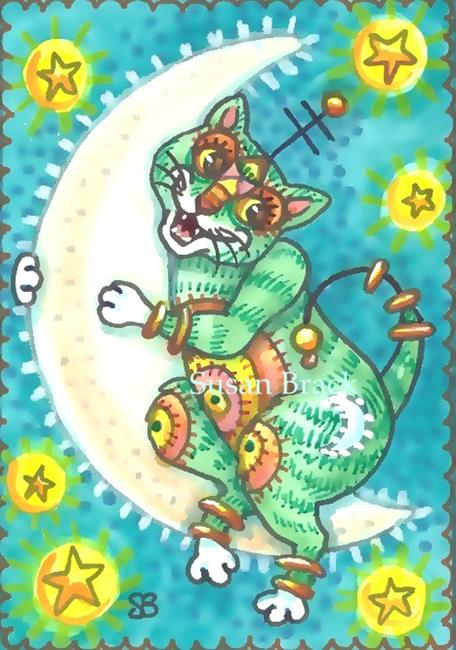 Art: MOON KITTY 2 by Artist Susan Brack