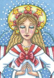 Art: AMERICANA GUARDIAN ANGEL by Artist Susan Brack