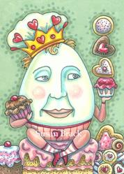 Art: KING OF VALENTINE CONFECTIONS by Artist Susan Brack
