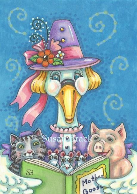 Art: MOTHER GOOSE by Artist Susan Brack