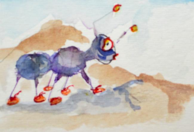 Art: Working Ant by Artist Delilah Smith
