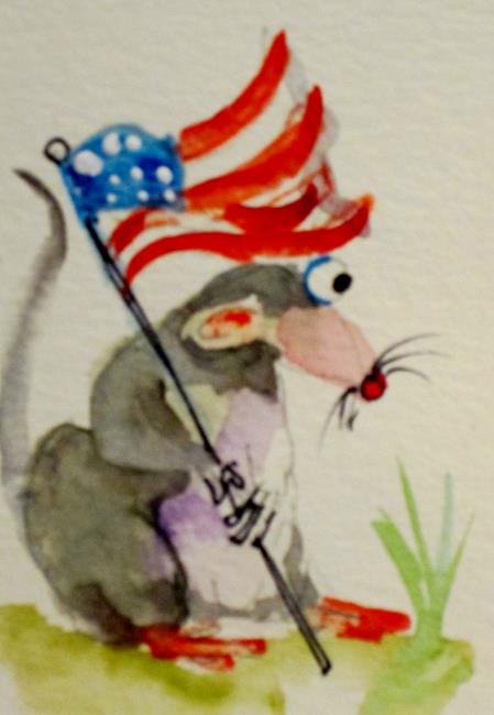 Art: USA Mouse by Artist Delilah Smith