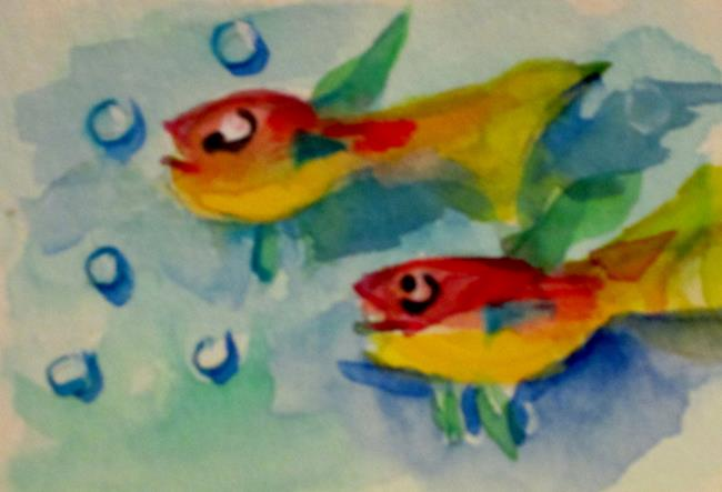 Art: Two Tropical Fish by Artist Delilah Smith