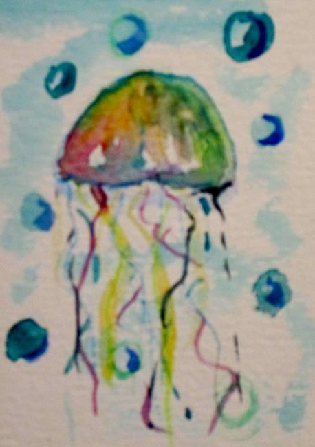 Art: Jelly Fish by Artist Delilah Smith