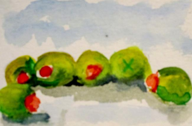 Art: Green Olives by Artist Delilah Smith
