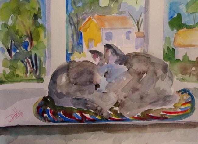 Art: Sleeping Cat by Artist Delilah Smith
