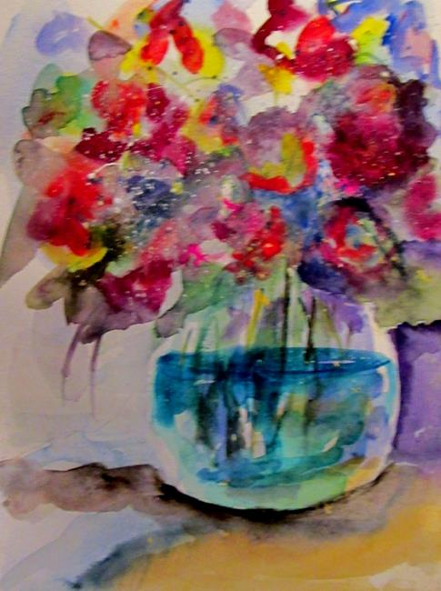 Art: Vase with Flower by Artist Delilah Smith