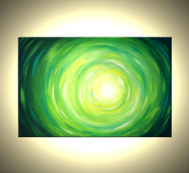Art: Ripples Of Green by Artist Daniel J Lafferty
