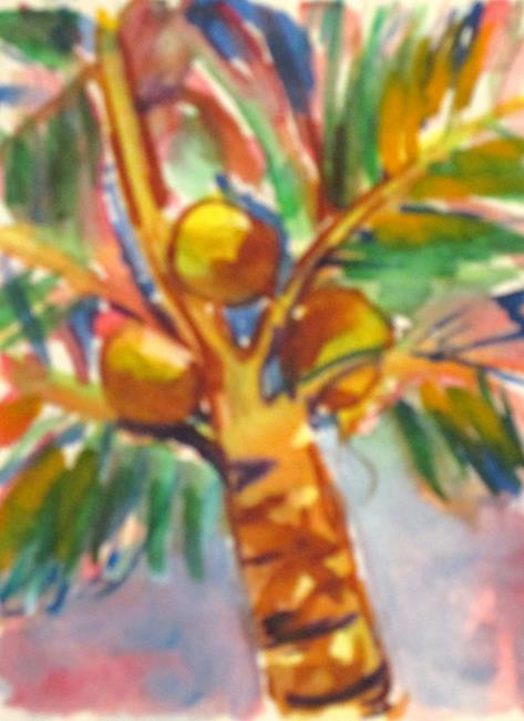 Art: Coconut Palm by Artist Delilah Smith