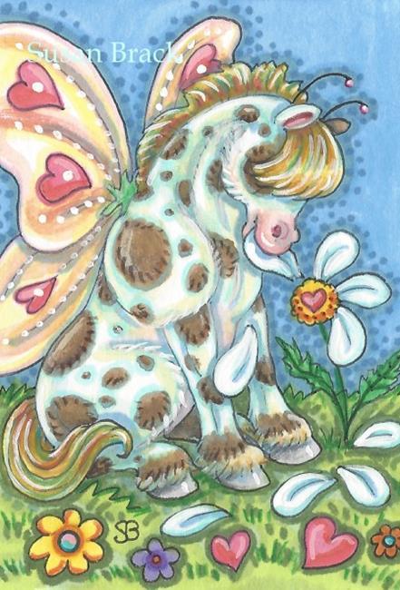 Art: WHIMSYNICKER LOVE ME LOVE ME NOT by Artist Susan Brack