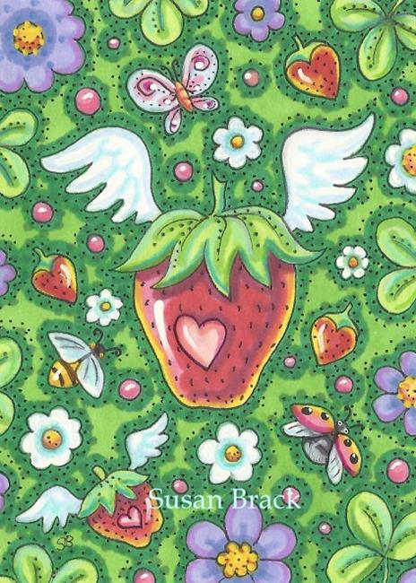 Art: STRAWBERRY WINGS by Artist Susan Brack
