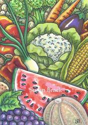 Art: SUMMER BOUNTY by Artist Susan Brack