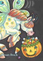 Art: WHIMSYNICKER CANDY CORN TREATS by Artist Susan Brack