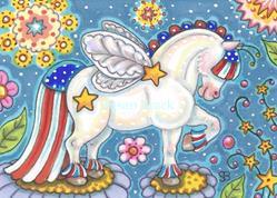 Art: WHIMSYNICKER YANKEE DOODLE PONY by Artist Susan Brack