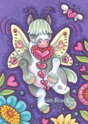 Art: WHIMSYNICKER HEARTS A FLUTTER by Artist Susan Brack