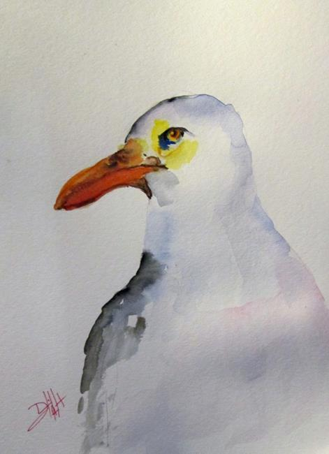 Art: Sea Gull by Artist Delilah Smith