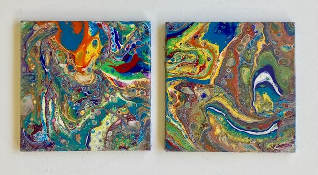 Art: Tiles by Artist Ulrike 'Ricky' Martin