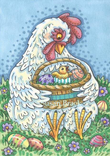 Art: EASTER CHICK by Artist Susan Brack
