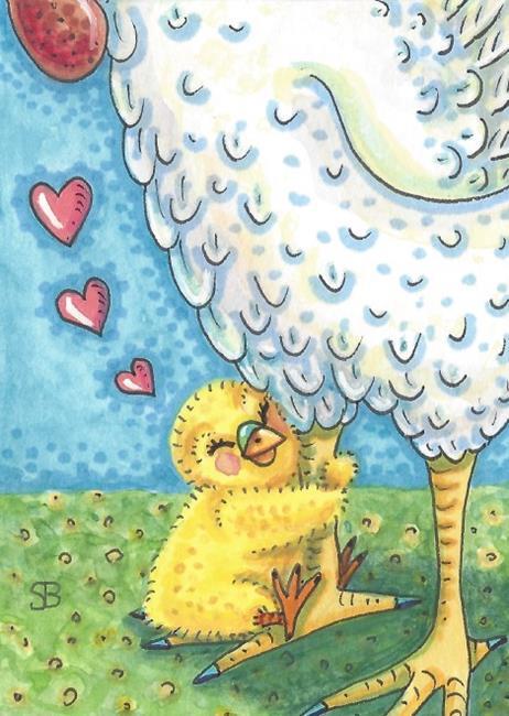 Art: HUG YOUR MOMMA by Artist Susan Brack