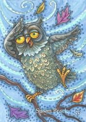 Art: WINDS BLOW WHEN FEATHERS FLY by Artist Susan Brack