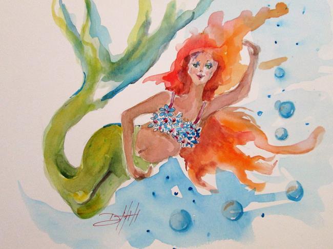 Art: Mermaid No 5 by Artist Delilah Smith