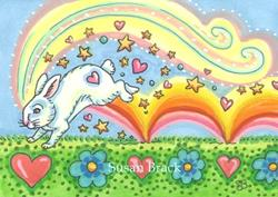 Art: RAINBOWS MAKE ME HOPPY by Artist Susan Brack
