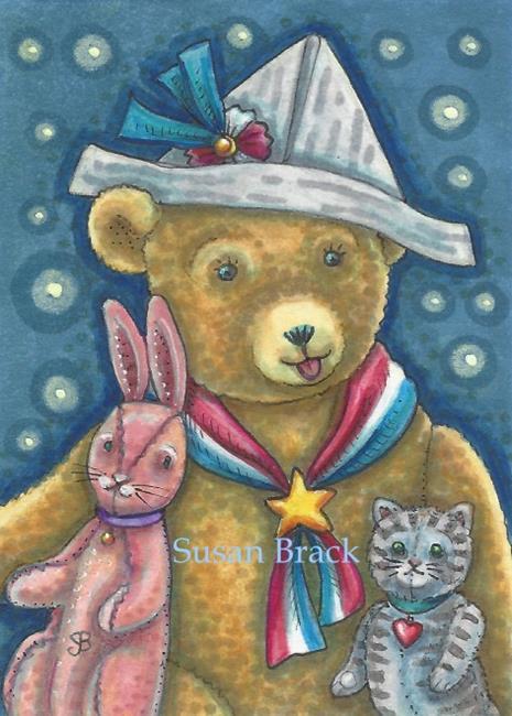 Art: PATRIOTIC TEDDY by Artist Susan Brack