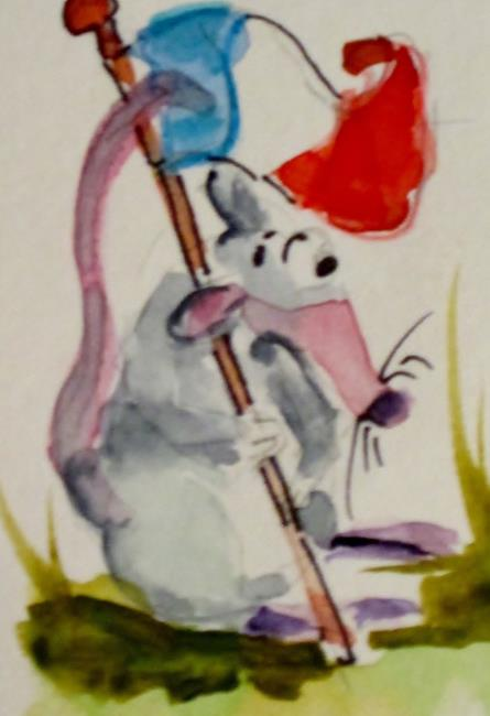 Art: French Mouse by Artist Delilah Smith