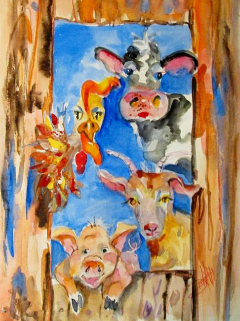 Art: Farm Animal-sold by Artist Delilah Smith