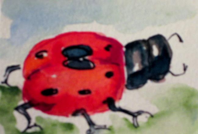 Art: Ladybug No. 3 by Artist Delilah Smith