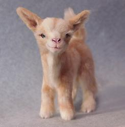Art: Silk Furred Kid Goat by Artist Camille Meeker Turner